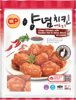 CP Crispy Chicken With Korean Hot And Spicy Sauce - 380G