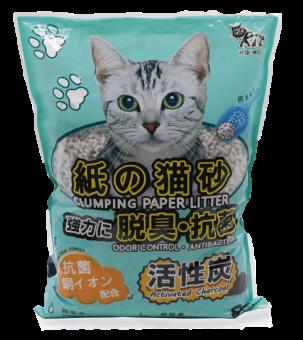 QQKit Paper Cat Litter - Activated Charcoal 8L