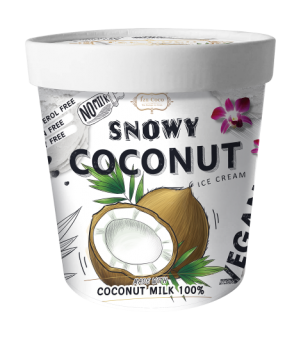 [Ize Coco] Thai Boutique Ice Cream - Snowy Coconut 365g Pint