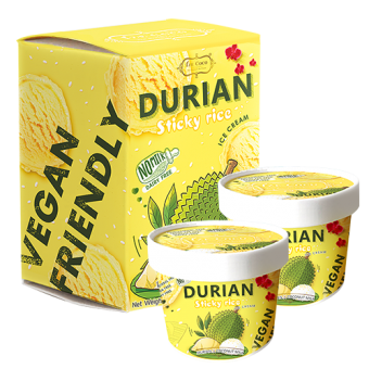 [Ize Coco] Thai Boutique Ice Cream -  Durian Sticky Rice Multipack 170g