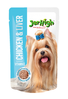 JERHIGH Chicken & Liver Pouch - 70G