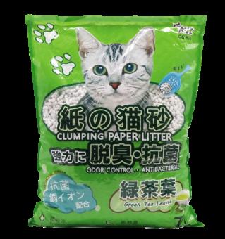 QQKit Paper Cat Litter - Green Tea Leaves 7L