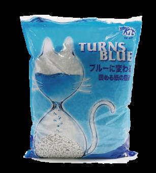 QQKit Paper Cat Litter - Turns Blue 7L